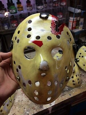 Jason Voorhees Part 4 Hockey Mask, Accurate Paint Job! Friday The 13th