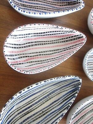 Vintage Rye Pottery Avocado Serving Dishes  Bowl Set of Six 1950's