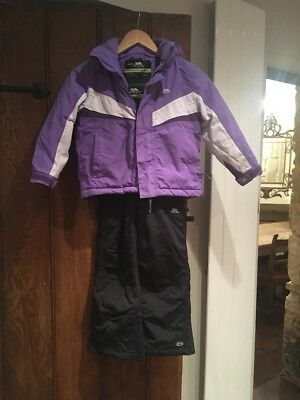 Girl's matching ski suit by Trespass age 3-4 years