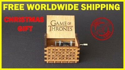 Engraved Wooden Music Box - Game of Thrones Theme FREE WORLDWIDE SHIPPING NOW