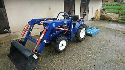 Compact Tractor - Iseki TX1300FD with front loader and topper.