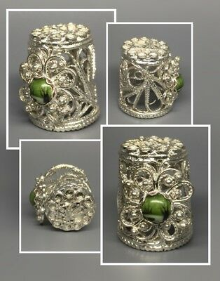 Russian Filigree & Handpainted Enamel Thimble Finift