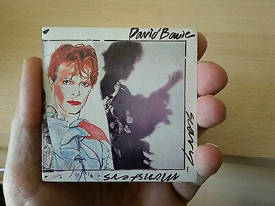 David Bowie Scary Monsters bubblegum miniature record cover 1980s empty