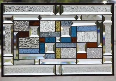 "-EYE CANDY-Beveled Stained Glass Window Panel • 21 ½""x13 ½""(55x34cm)- EBSQ art"