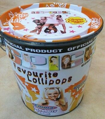 Retro Vintage SPICE GIRLS official chupa chups empty metal lollypop tin 1997