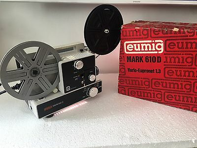 EUMIG MARK 610D Super 8 Single8 Stummfilm-Projektor voll funktionsfähig  im OVP.