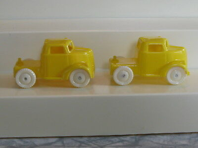 Pair Orig. Yellow Allied Circus Tractors For 643 American Flyer Circus Flat Car