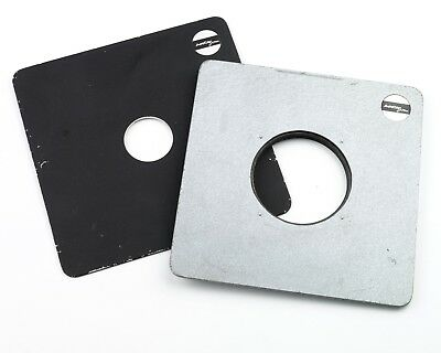 Arca Swiss Lens Panels x2.       Lens panels for Arca Swiss 4x5 or 8x10 cameras.