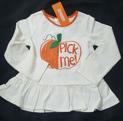Nwt Gymboree Girls Pick Me Pumpkin Patch Fall Top 18-24 Months Happy Harvest