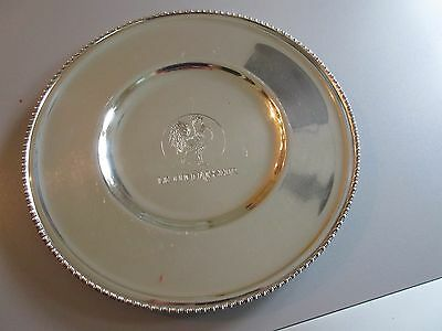 """Coll. Toronto : Le Connaisseur Plated Silver Serving Plate Tray 11"""" ¼  Rooster"""