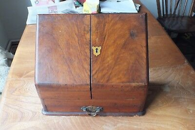 Antique  Stationery Box For Restoration  No Key