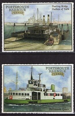 Portsmouth Harbour Ferries - Set Of Four Postcards - Gosport Ferry