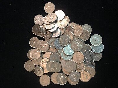 Lot of 80 Canadian 5 Cents Nickels George VI Elizabeth II 1930's 40's 50's
