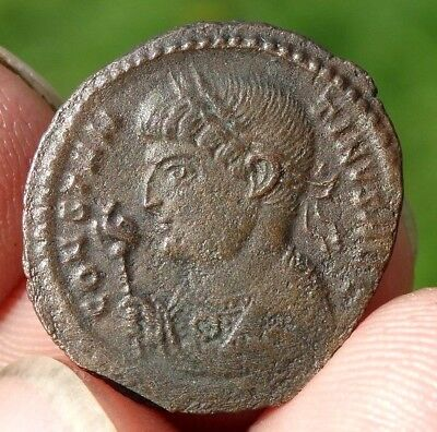 AE3  FOLLIS  of  CONSTANTINE I  307 - 337 AD -  TRIER mint