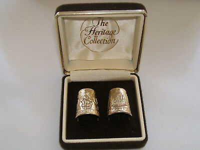 The Heritage Collection, Set of Lovely Silver Gilt Thimbles Charles & Diana 1981