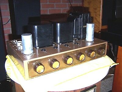 Rare 1953 BELL 3D Binaural stereo tube amplifier,no tubes untested project amp.