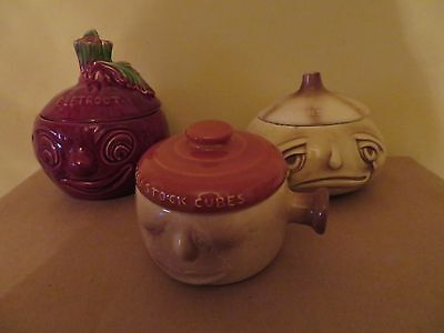 Sylvac And Falcon Ware Face Pots