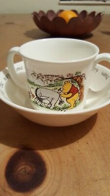 royal doulton winnie the pooh cup and bowl