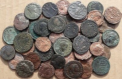 LOVELY !!!   LOT  of  55  VARIOUS ROMAN IMPERIAL COINS