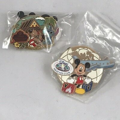 Disney pin set-2/two pins-VACATION CLUB-Lilo & Stitch-Mickey Mouse-NEW & SEALED