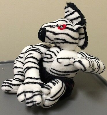 "ZEBRA Zebra Mats MMA Martial Arts Plush Advertising 9"" tush tags only RARE!"