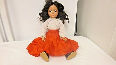 "Vintage Hard Plastic 17"" Strung Jointed Fashion Style Doll-Told she is Maggie"