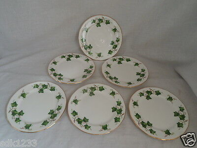 Six Colclough Ivy Tea Plates