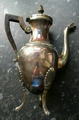 Antique coffee pot with bird's head spout, silver plated
