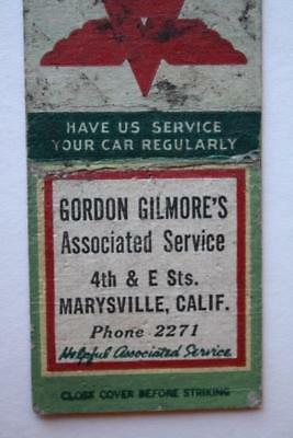 1930-40s Era Marysville,California Flying A Gas & Oil Service Station matchbook!