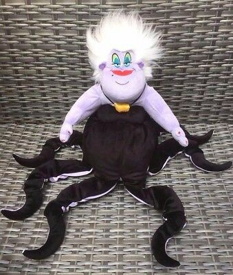 "Rare Authentic Disney Store Large 24"" URSULA Witch Little Mermaid Soft Plush Toy"