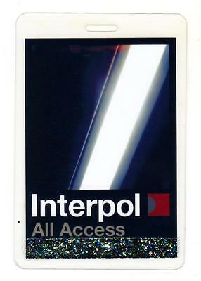 INTERPOL Unknown date & Tour LAMINATED BACKSTAGE PASS 'ALL ACCESS'