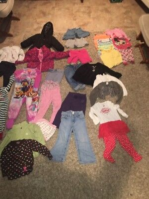 lots of baby girl clothes 2t and 3t 31 pieces with 2 jackets