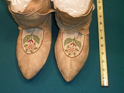 Old Embroidered Moccasins 1920's