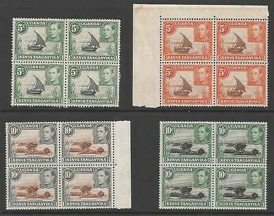 Kut Selection Of 4 Gvi Stamps  In Fresh Mnh  Blocks Of 4  Nice Fresh Lot