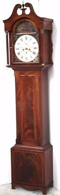 Fine Antique Scottish Longcase Clock - Mahogany 8 Day Striking Grandfather Clock