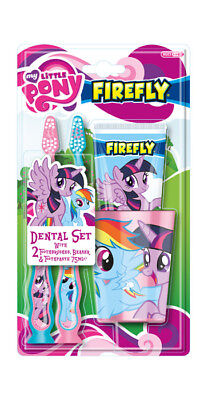 My Little Pony dental set (tumbler, 2 toothbrushes + fluoride toothpaste). New!