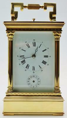L Epee Carriage Clock 8 Day Mantel Clock - Large Repeat striking Carriage Clock