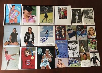 Lot Of 31 SPORTS / ATHLETE AUTOGRAPH PHOTOS COLLECTION - HAND SIGNED