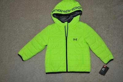 f19789a6a0 UNDER ARMOUR FEATURE Puffer Toddler Boys Jacket 27B56001-71 Fuel Green NWT