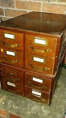 Vintage Wooden Stacking  Filing Collectors Drawers Haberdashery/Tools