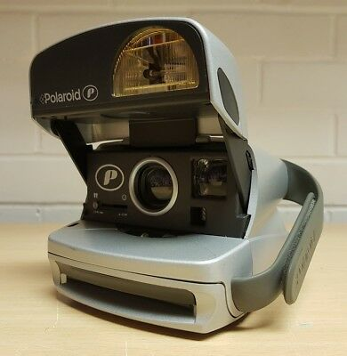 POLAROID P600  SILVER INSTANT FILM CAMERA Fully tested.