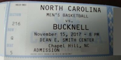 Unc Mens Basketball Tickets To Bucknell Game Wednesday Nov 15