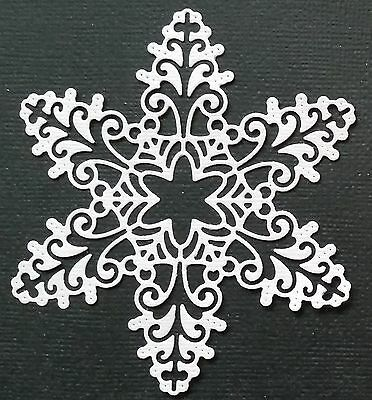 CHOICE OF COLOUR & CARD  ...5 x Large Snowflakes - Die Cuts