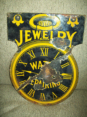 Early Jewelry , Watch Repair, Porcelain Sign