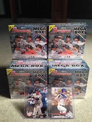 (6) 2017 BOWMAN MEGA BOX Factory Sealed NEW Lot Mojo Refractor JUDGE? OTANI? RC