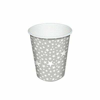 NEW Paper & Design Starlets Paper Cup 250ml 10pk Silver