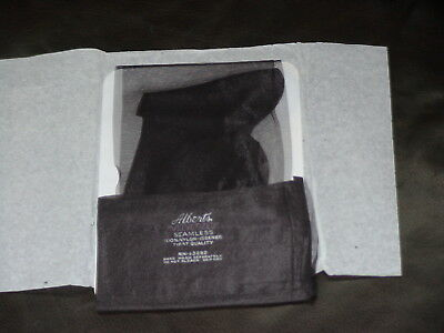 1PR Vintage Albert's 15Den VELVETIZED RHT Plain Knit Nylon Stockings BLACK Sz 10