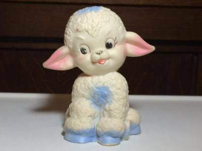 Vintage Frey squeaky toy lamb made in Taiwan