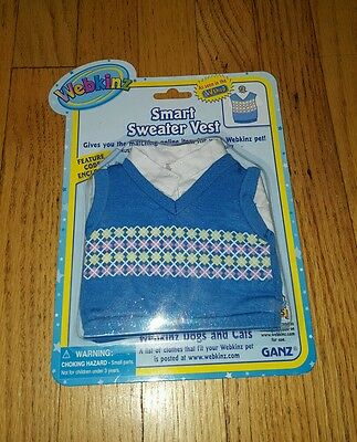 Wenkinz clothing Blue Smart Sweater Vest,Brown Cords Pants,Dogs Cats Lot 2