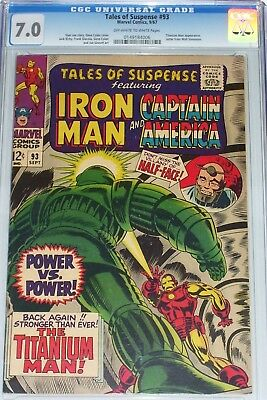 Tales of Suspense #93 CGC graded 7.0 from Sep 1967 Titanium Man appearance